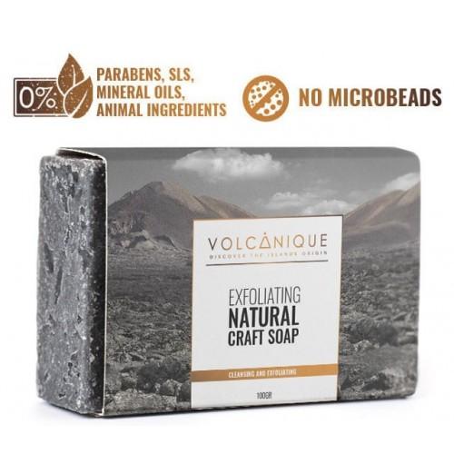 Savon de cendres volcaniques