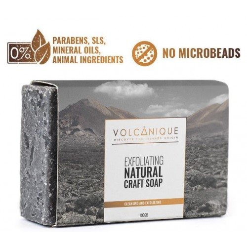 Soap of volcanic ashes
