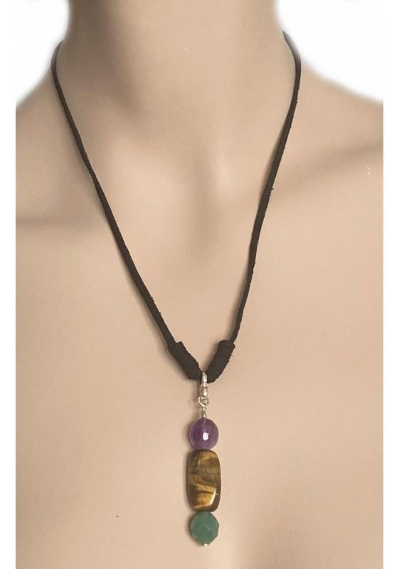 Halskette Drei Steine