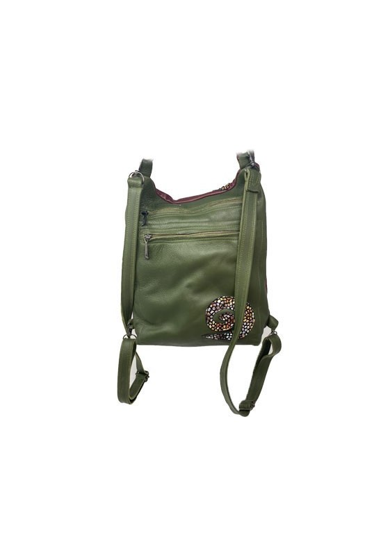 Brown & Green Backpack
