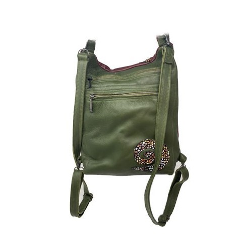 Brown & Green Backpack