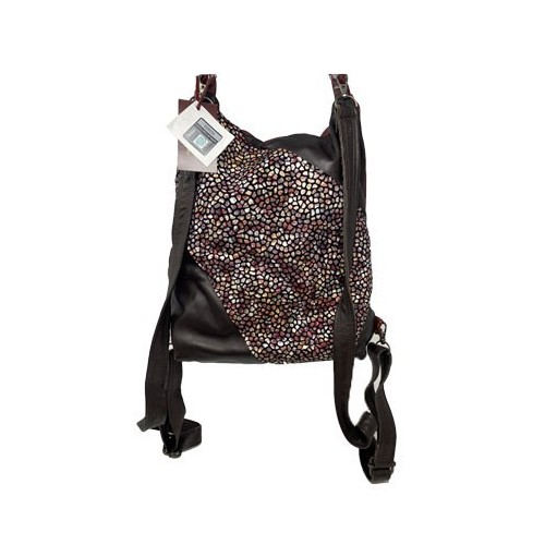 Brown & red backpack