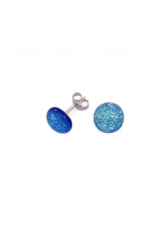 Kleiner blauer Ohrring