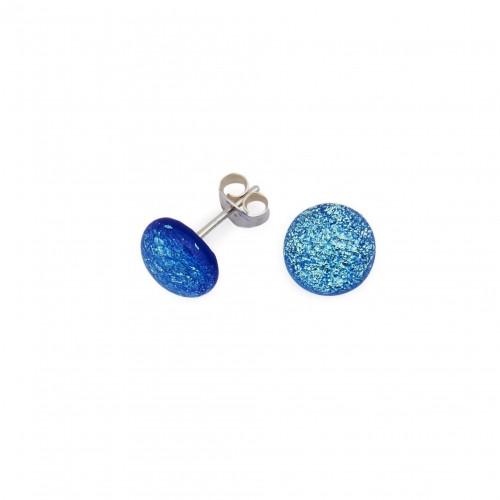 Piccolo orecchino blu