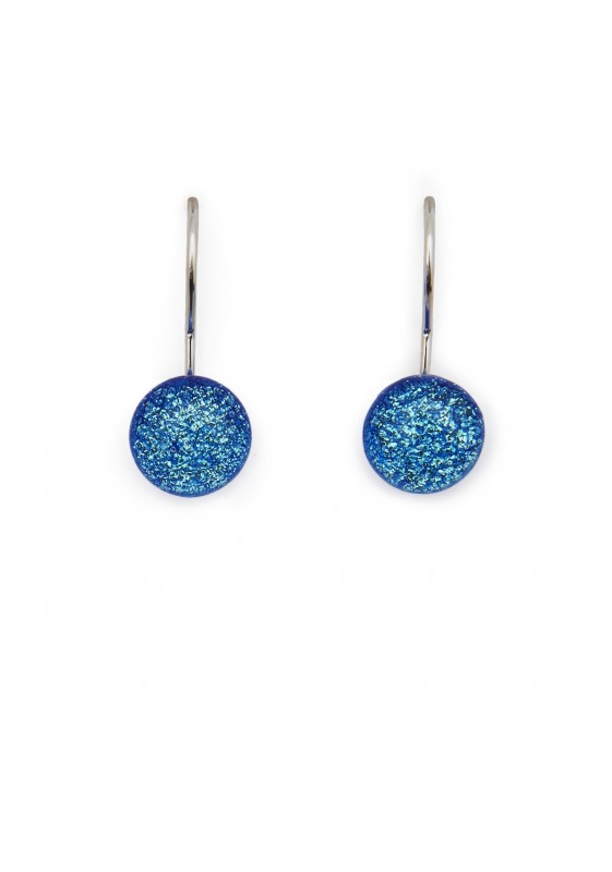 Blue hook earring