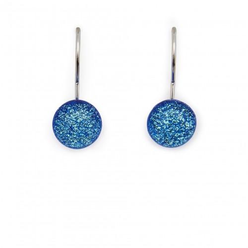 Blue hook earring