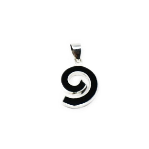 Spiral Lava Pendant