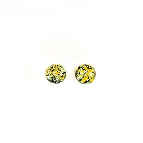Piccolo orecchino dicroico giallo