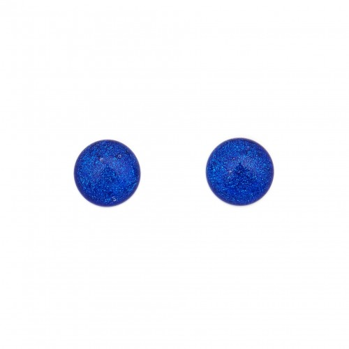 Big dark blue dichroic earring