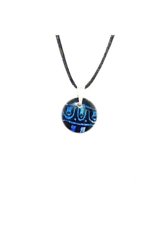 Small blue Dichroic pendant