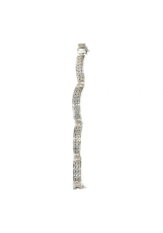 Spiral sølv armbånd