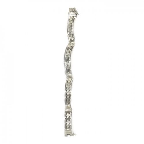 Spiral silver bracelet