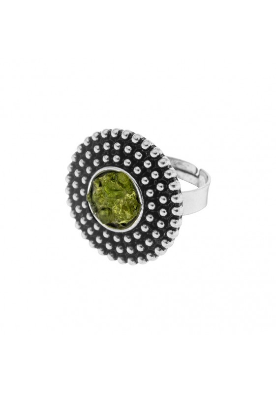 Adjustable olivine ring AN136