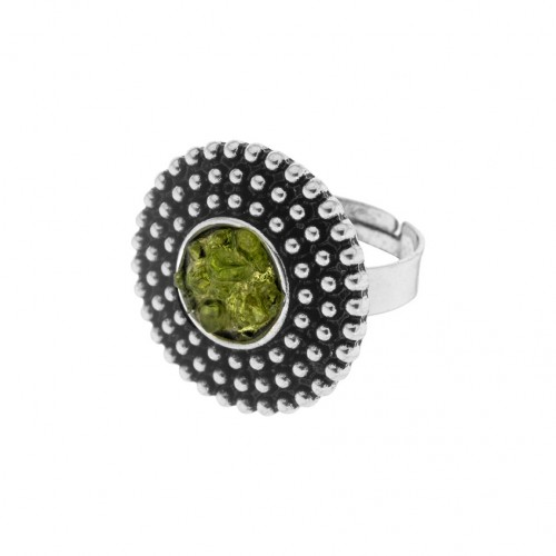 Adjustable olivine ring AN136