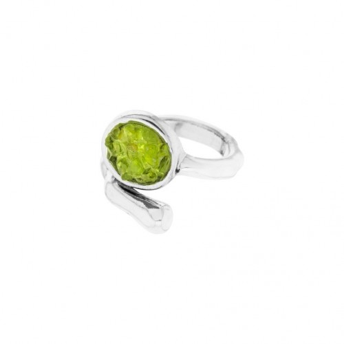 Adjustable olivine ring AN142