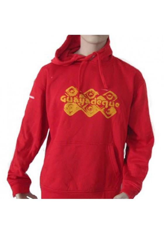 Sudadera Roja Guayadeque Amarillo